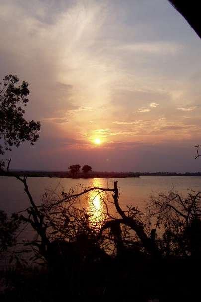 Foto Západ slunce v NP Chobe